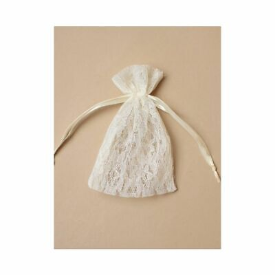 £2.99 • Buy NEW 12 X Cream Ivory Lace Favour Gift Bags Wedding Party Confectionary 15x11cm