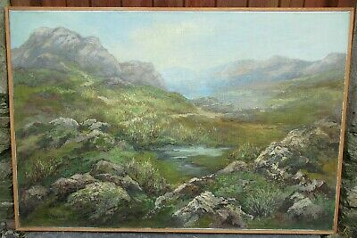 £185 • Buy Large 20th Century Dartmoor Impressionist Oil Painting THIJS MAUVE Listed Dutch