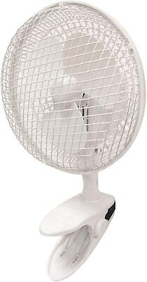£10.99 • Buy 6  Desk Fan & Clip 2-Speed Adjustable Home Office White Air Conditioning Cooling
