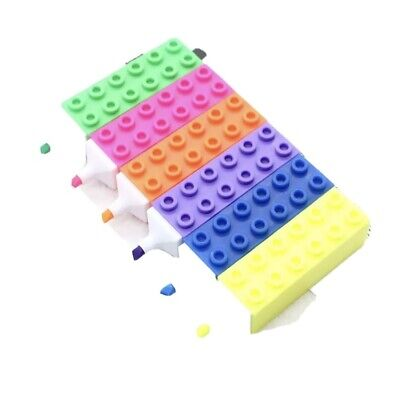 £6.49 • Buy 6 Piece Lego/brick Highlighters For School/children/sensory/quirky Stationery