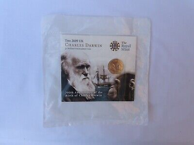 £54 • Buy The Royal Mint 2009 Charles Darwin £2 Pound Coin BUNC Uncirculated Pack (Sealed)