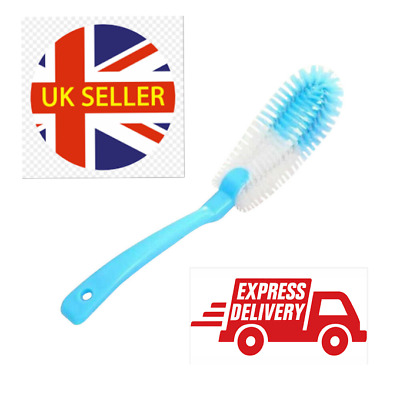£3.48 • Buy Long Handle Bottle Cup Cleaning Brush Brew Scrubbing Kitchen Cleaner Washer Tool