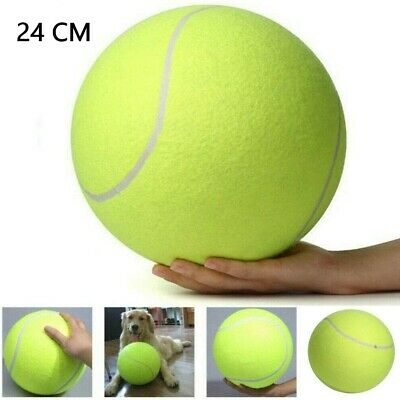 £7.99 • Buy 24CM Giant Tennis Ball Dog Chew Toy Big Inflatable Supplies Outdoor Toys - UK