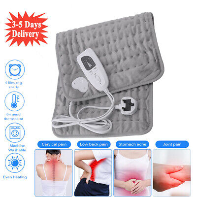 £20.98 • Buy Washable Electric Heat Pad For Back Neck Shoulder Therapy Warmer 6 Heat Setting