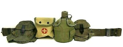 $89.99 • Buy US Army Vietnam War Water Canteen/ Cup/Metal Base & 2 Ammo Pouches Belt M1956
