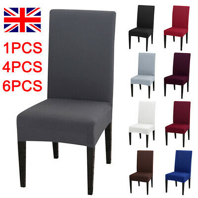 £5.99 • Buy Crushed Velvet Dining Chair Covers Stretchable Protective Slipcover Home Decor