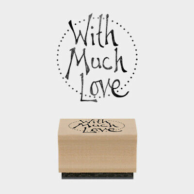 £3.69 • Buy East Of India Rubber Stamp  With Much Love Card Craft Scrapbooking Stamping