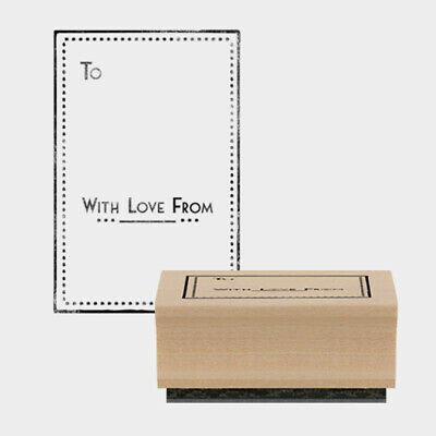 £3.99 • Buy East Of India Rubber Stamp To.. With Love From Card Craft Scrapbooking Stamping