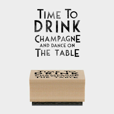 £4.29 • Buy East Of India Rubber Stamp Time To Drink Champagne Card Craft Scrapbooking