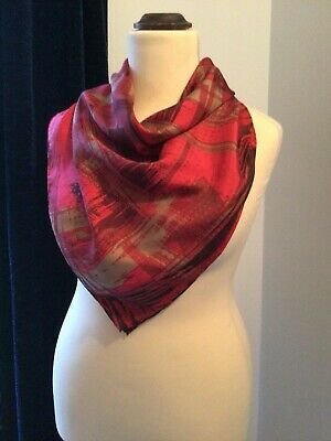 """£15 • Buy Super Passigatti Silk Scarf, Hand Rolled, 33"""" X 33"""", Lovely Condition, Italian"""