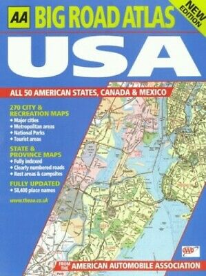 £12.99 • Buy Big Road Atlas USA, Canada And Mexico (AA A... By Automobile Associati Paperback