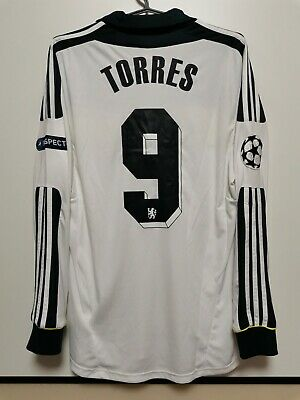 £250 • Buy Size M Chelsea 2011-2012 Cl Third Football Long Sleeve Shirt Jersey Torres #9