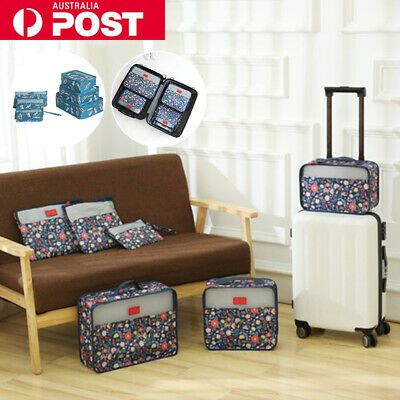 AU15.99 • Buy 6PCS Travel Luggage Storage Bags Clothes Organiser Packing Cube Suitcase Pouches