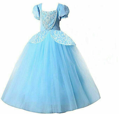 £19.69 • Buy Girls Cinderella Princess Fancy Fairy Dress Up Cosplay Costume Party Outfit-Gift