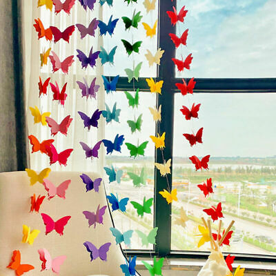 £2.95 • Buy 3D Paper Butterfly Hanging Garland Bunting Banner For Birthday Wedding Decor UK
