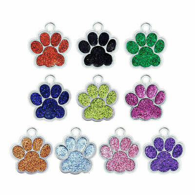 £3 • Buy FREE ENGRAVING Dog ID / Cat ID Name Bling Tag Paw Personalised Puppy Pet ID Tags
