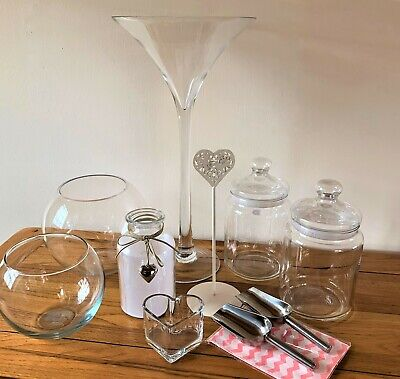 £17.99 • Buy Candy Buffet Glass Jars - For Weddings, Parties Plus Accessories COLLECTION ONLY