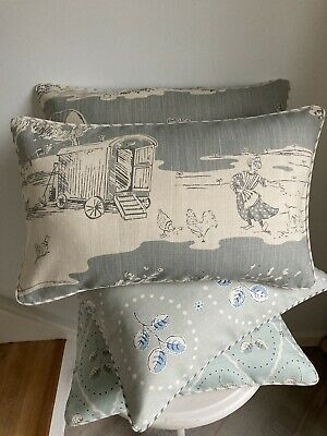 """£34.95 • Buy VANESSA ARBUTHNOTT """"FOR THE LOVE OF ROSE"""" PIPED CUSHION COVER DUCK EGG 20""""x11"""