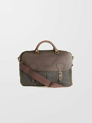 £140 • Buy BARBOUR Olive Wax Leather Briefcase
