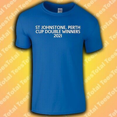 £17.99 • Buy St Johnstone Cup Double Winners 2021 T-Shirt | Scottish Cup | League Cup