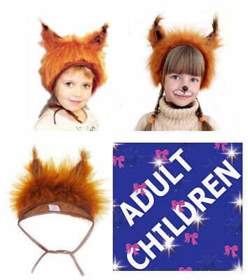 £7.85 • Buy Red Squirrel Animal Fancy Dress Hat Adults Kids Children Unisex Carnival Party