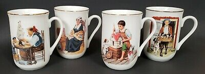 $ CDN9.90 • Buy SALE Norman Rockwell Museum 1 Lot Of 4 Each Certified Authentic Mugs Cups