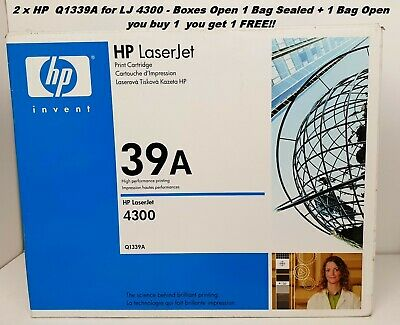 $ CDN42.89 • Buy HP Q1339A X2 Off GENUINE LJ 4300 BUY 1 GET 1FREE Boxes Open 1 Bag Sealed +1 Open