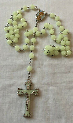 £10 • Buy Vintage Plastic Rosary Beads With Large Crucifix Beads