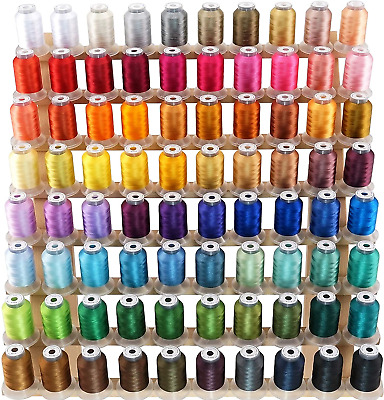 £74.62 • Buy Brothread 80 Spools Janome Colours Polyester Machine Embroidery Thread Kit 500M