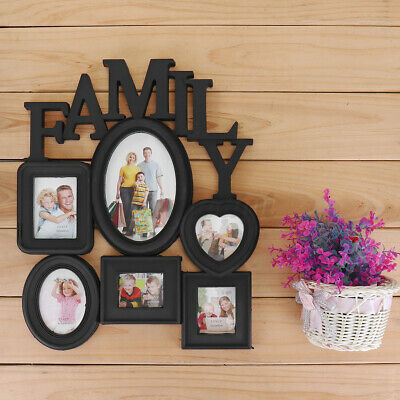 £9.79 • Buy Wall Hanging Family Photo Frame 6 Pictures Memory Holder Display Decor Gift UK