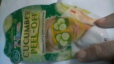 £4.49 • Buy 4x Montagne Jeunesse 7th Heaven Cucumber Face Skin Care Peel Off Mask  FREE POST