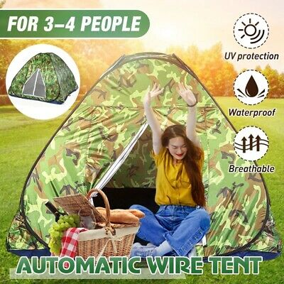 AU28.55 • Buy 1-4 Persons Automatic Portable Camping Tent Outdoor Double Layer Waterproof AU