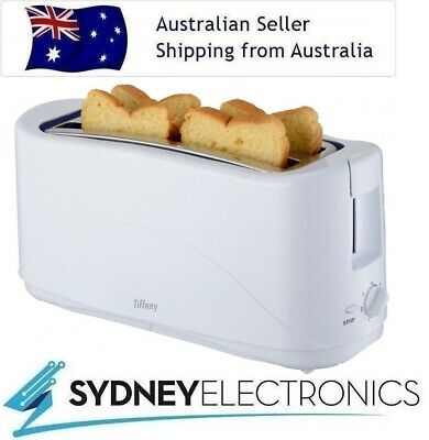 AU36.80 • Buy Tiffany 4 Slice White Toaster W/ Cool Touch & Removable Crumb Tray- TTW4