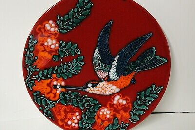 £450 • Buy Poole Pottery Humming Bird 14ins Charger S M Pottinger