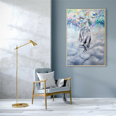 £3.69 • Buy Modern Romantic Lover Hand In Hand Canvas Painting Wall Art Poster Room Decor