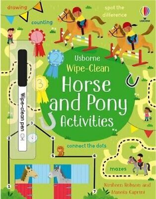 £7.37 • Buy Wipe-Clean Horse And Pony Activities By Kirsteen Robson 9781474989015
