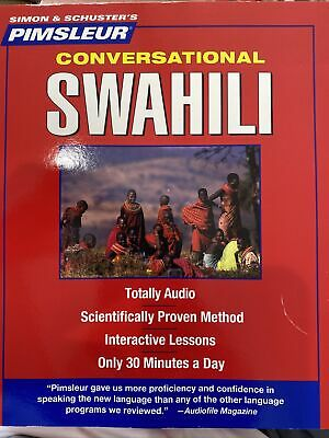 £29.73 • Buy Pimsleur Swahili Conversational Course Level 1 Lessons 1-16 Cd By Pimsleur