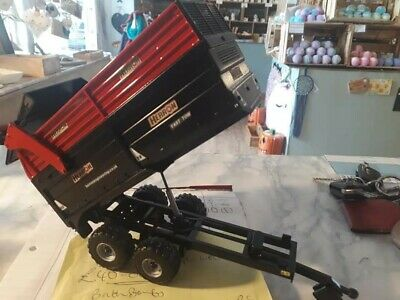 £40 • Buy Rare Britains Conversion Herron H2 Silage Trailer  Black + Red For Tractor Siku