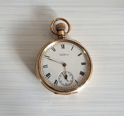 £69 • Buy Vintage Waltham 60's Gold Plated Pocket Watch Sold For Repair/spares