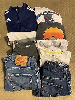 AU38.91 • Buy Lot Of Boys Clothing Levi's Adidas, Old Navy,..... Sizes Are 10-12Y 9 Pieces