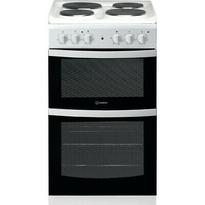 £299 • Buy Indesit ID5E92KMW | 50cm Double Cavity Electric Cooker  - White