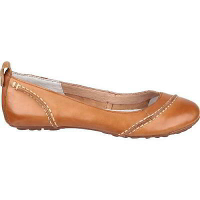 £44.99 • Buy Hush Puppies Janessa Womens Ladies Leather Ballet Pumps Shoes Brown Size 5-8