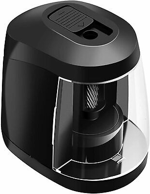 £19.95 • Buy Black Electric Pencil Sharpeners, Mains Powered With UK Plug Or Battery Operated