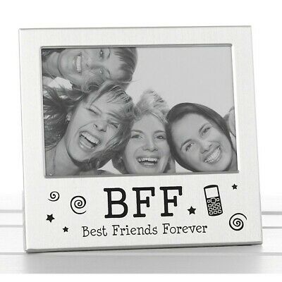 £4.49 • Buy BFF Best Friends Forever Silver Photo Picture Frame Friendship Day Gift 5 X3.5