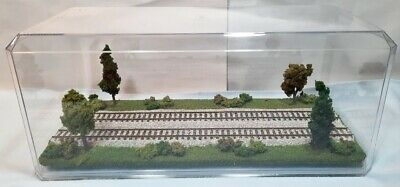 $56.95 • Buy Ho Scale 16  Double Track  Summer Scene  -display Case - For Any Ho Trains M4
