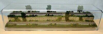$52.20 • Buy N Scale 16  2-level Track -summer Scene-display Case -for Any N Train         M4