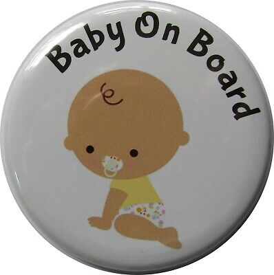 £2.39 • Buy BABY ON BOARD Badge, LARGE Up To 55mm Pin Or Clip #4