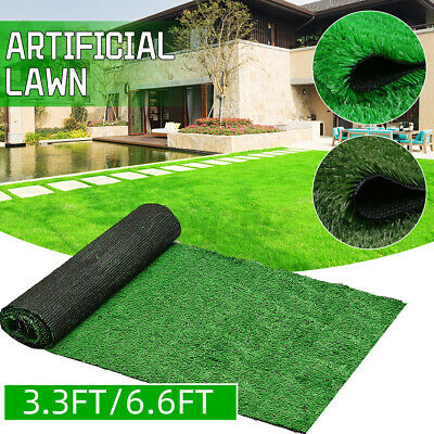 £6.99 • Buy 6.6FT Artificial Synthetic Grass Turf Fake Lawn Outdoor Landscape Golf Floor Mat