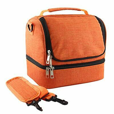 $ CDN20.82 • Buy Lunch Bag For Women,Leakproof Reusable Double Decker Lunch Toe Box Insulated