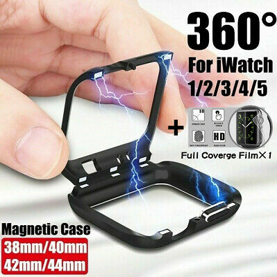 $ CDN5.83 • Buy For Apple Watch Series 5 4 3 2 1 Magnetic Protective Case Cover 38 40 42 44mm